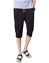 2695089f367 Men Summer Sports Linen Elastic Waist Harem Cotton Short · Hajotrawa