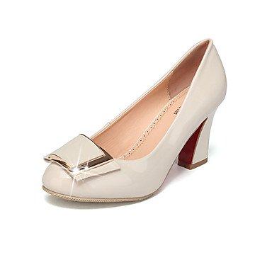 LvYuan-GGX Damen High Heels Formale Schuhe Schuhe Schuhe Lackleder Frühling Herbst Normal Formale Schuhe Blockabsatz Schwarz Mandelfarben 12 cm & Mehr, Almond, us8.5   eu39   uk6.5   cn40 85d25d