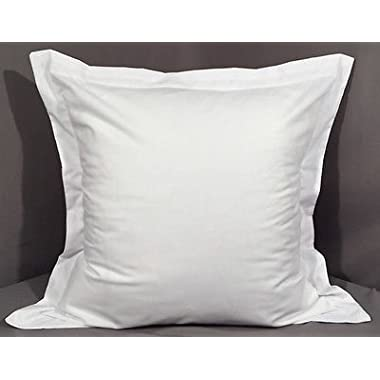 Euro/European Size Super Soft White 400 Thread Count Egyptian Cotton Euro Size 26'' x 26'' Pair Of Pillow Sham Only Sold By Online expert Cases