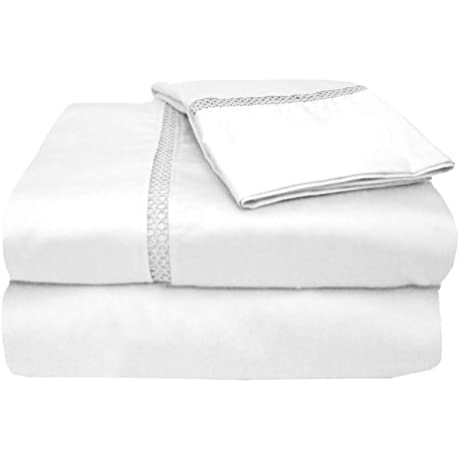 MADE IN THE USA 1200TC 100 Cotton Sateen Legacy Sheet Set King Ivory By Veratex By Veratex Inc Us Kitchen VERLQ