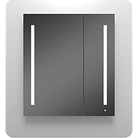 Robern AC3640D4P2LA AIO Series 36 Two Door Mirrored Medicine Cabinet W Electrical Option Audio
