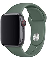 Silicon Sport Band For Apple Watch 44mm Pine Green, Works with all versions of For Apple Watch