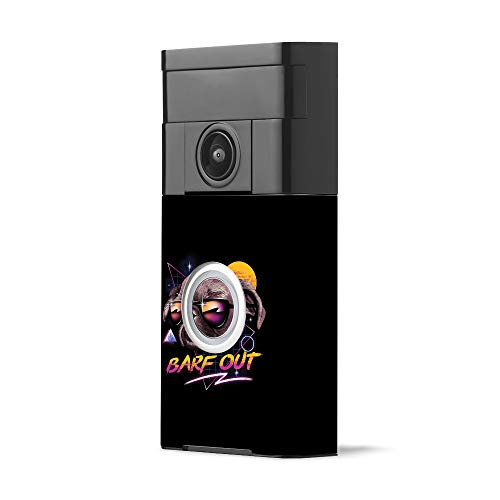 MightySkins Skin for Ring Video Doorbell - Barf Out | Protective, Durable, and Unique Vinyl Decal wrap Cover | Easy to Apply, Remove, and Change Styles | Made in The USA