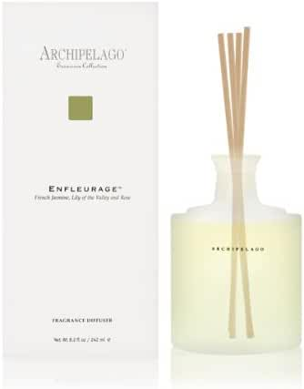 ARCHIPELAGO Excursion Enfleurage french jasmine, lily of the valley.Home fragrance diffuser 8.2 oz.