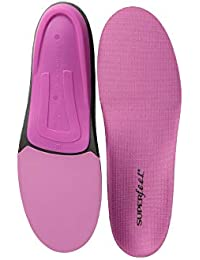 BERRY, Womens Comfort High Impact Sport Running and Walking Shoe Orthotic Insole, Womens, Berry