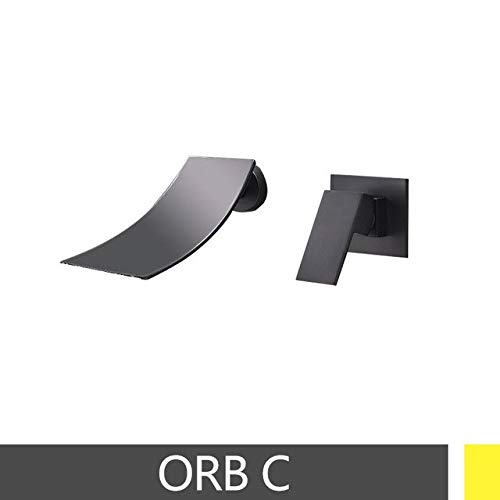 Orb C U-Enjoy Chandelier Sink Faucet Basin Multiple color Top Quality Hot Type and Cold Mixer Wall Mount Two Tap Hole Install Free Shipping [Orb B]