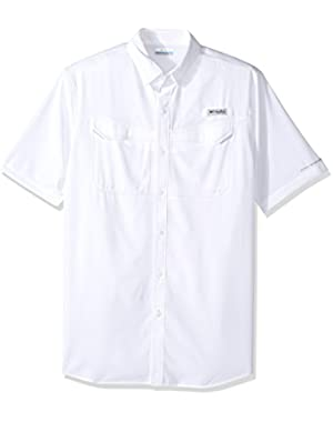 Men's Low Drag Offshore Short Sleeve Shirt, White, Large Tall
