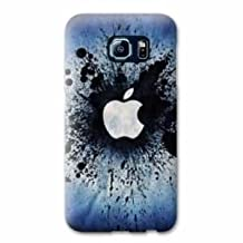 Case Samsung Galaxy S6 EDGE apple vs android - pomme eclaboussure N