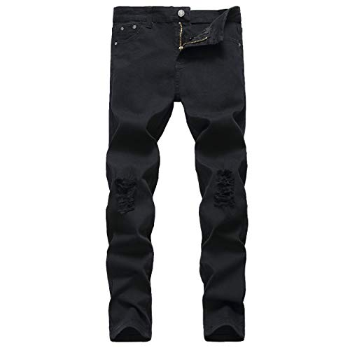 NEWSEE Boy's Skinny Fit Ripped Destroyed Distressed