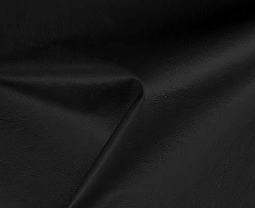HAPPERS 1 Metro de Polipiel Especial Exterior para tapizar, Manualidades, Cojines o forrar Objetos. Venta de Polipiel por Metros. Diseno Nautica Color Negro Ancho 140cm