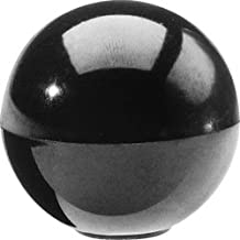 "DimcoGray Black Phenolic Ball Knob Female, Brass Insert: 10-32"" Thread x 5/16"" Depth, 3/4"" Diameter x 45/64"" Height X 3/8"" Hub Dia (Pack of 10)"