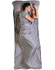 Sleeping Bag Liner - Camping & Travel Sheets for Adults - Sleeping Sack & Sheets for Backpacking, Hotel, Hostels & Traveling - Ultra Lightweight Single/ Double Sleep Sack - Comfortable Sleep Liners