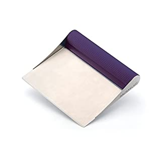 Rachael Ray 56959 Tools and Gadgets Stainless Steel Pastry Scraper /  Bench Scrape / Kitchen Tool for Baking and Cooking / Dishwasher Safe, Purple