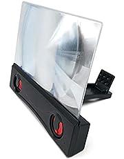 Houshome Ampliador de tela do celular de 12 polegadas Alto-falante Bluetooth Amplificador de tela do smartphone Tela do projetor Suporte dobrável para telefone compatível com todos os smartphones