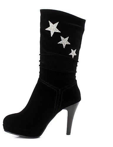 XZZ  Damenschuhe - Stiefel - Kleid -   Party & Festivität - Vlies - Kleid Stöckelabsatz - Modische Stiefel - Schwarz 2afc8e