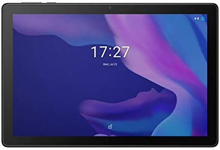 Alcatel 1T10 Smart TAB (Wi-Fi), 32GB+2GB RAM, 10.1-inches HD IPS Tablet, Eye Protection, Kids Mode + Flipcase (Black)
