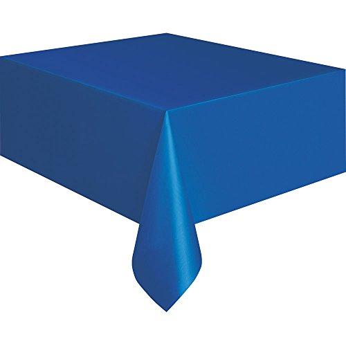 "Royal Blue Plastic Tablecloth, 108"" x 54"""