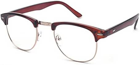 Outray Vintage Retro Classic Half Frame Horn Rimmed Clear Lens Glasses