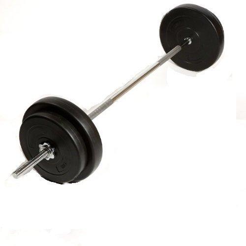 Barbell 6& 039;, Gewicht  27 kg Gewicht heben Gym 6& 039;Qualität, 1 Langhantel, Standard, mit Sternverschlüssen, 2.54 cm mit Hantelscheiben, aus Vinyl