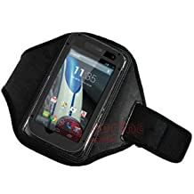 Armband Exercise Workout Case with Key holder for Motorola Moto X with an Otterbox Defender or Commuter Case on it..