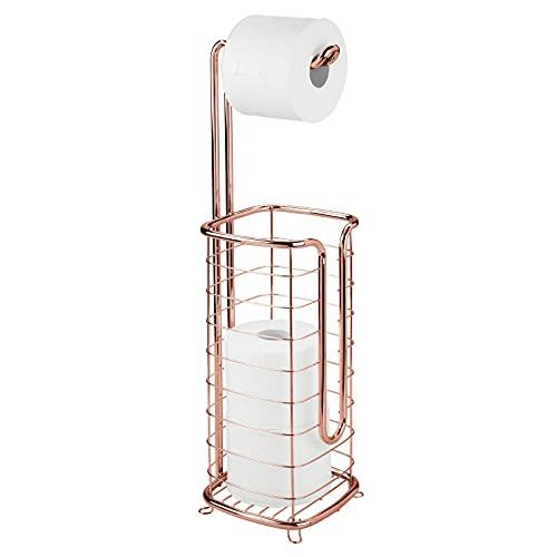 Portarrollos y almacenamiento de papel higiénico rosa gold