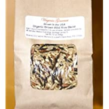 Virginia Gourmet Gluten Free Organic Wild & Brown Rice Blend (24 oz - Two 12 oz packages) Contains long grain brown, sweet brown, Wehani®, Black Japonica™ and select wild rices - Grown in California, USA