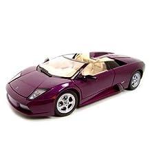 Lamborghini Murcielago Roadster Purple 1:18 Diecast Model