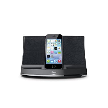 iLuv Aud 3 Apple Lightning Speaker Dock for iPhone 6S Plus, iPhone 6 Plus, iPhone 6S, iPhone 6, iPhone 5S, iPhone 5C, iPhone 5 - Black [Apple MFi Certified]