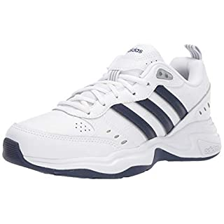 adidas Men's Strutter Cross Trainer, White/Black, 11 M US