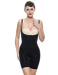 Franato Women's Underbust Waist Thigh Slimming Bodysuit Shapewear