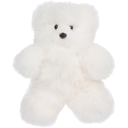 12 Handmade Alpaca Teddy Bear – Luxuriously Soft and Hypoallergenic – Artisan Made in Peru … (White)