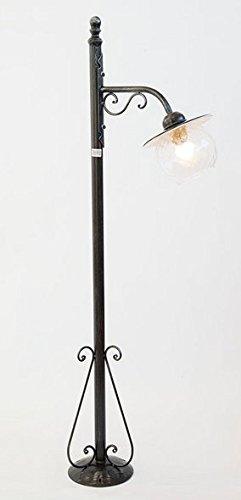 LAMPADE LINEA 'PIATTO' LAMPIONE SMALTATO PERUGINO 1 LUCE CM. 120 Ø 20 CON VETRO