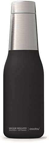 The Asobu Oasis Vacuum Insulated Stainless Steel Double Walled 20oz Water Bottle