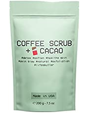 Life's Butter Exfoliating Natural Arabica Cacao Coffee Scrub for Cellulite, Stretch Marks, Scars and Acne