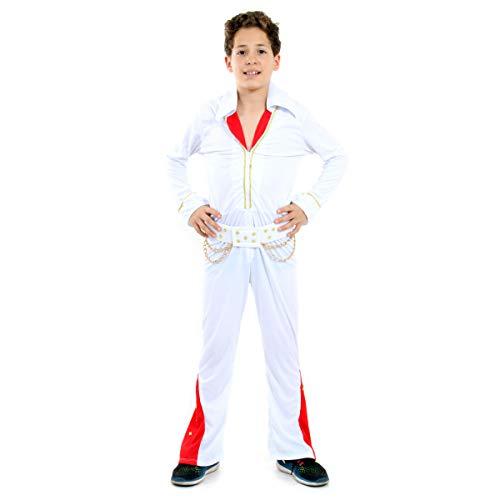 Elvis Infantil 33114-G Sulamericana Fantasias Branco/Vermelho G 10/12 Anos
