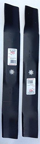 "Set of 2 Blades for John Deere 42"" Decks on LA102, 115, 125, 135 & X 300 M154061"