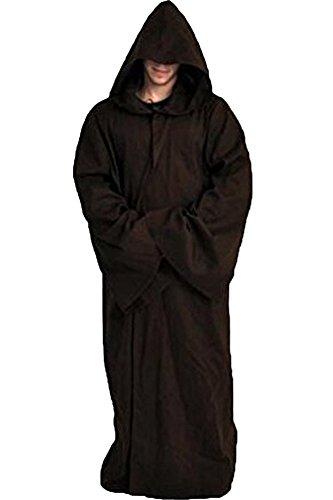 Cosplaysky Men's Cloak for Jedi Robe Costume