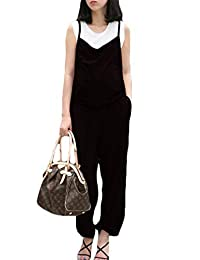 Simgahuva Women Maternity Loose Overalls Adjustable Jumpsuit Fit Belly Pants