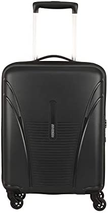 American Tourister Ivy PP 55 cms Black Hardsided Spinner Luggage with Built-in TSA Lock FO1 (0) 09 001