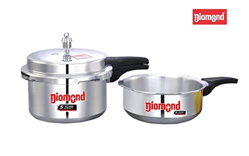 Diamond Aluminium Pressure Cooker (ISI) Combi Pack (3 LTR Cooker+ Pan Combi Pack Gift Set) Price & Reviews