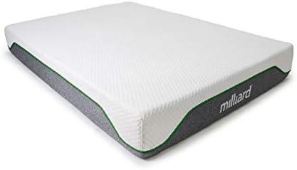 Milliard Memory Foam Mattress 10 inch Firm, Classic (Queen)