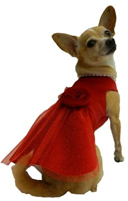 L Miss Red Dress for Dogs