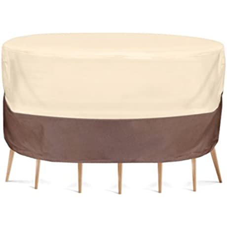 Pyle PVCTBLCH50 Armor Shield Patio Table And Chair Set Cover 54 By 23 Inch Fits Round Table And 2 Standard Chairs