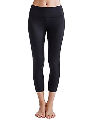 outlet store ac5db eae29 Oalka Women s Yoga Capris Power Flex Running Pants Workout Leggings