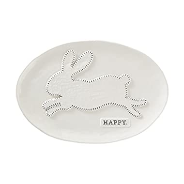 Mud Pie Bunny Serving Platter, White