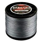 EMB MX Linea Trenzada Color Gris 500 MTS 4 Hilos 20 30 45 50 60 80 100 Libras Pesca efectiva