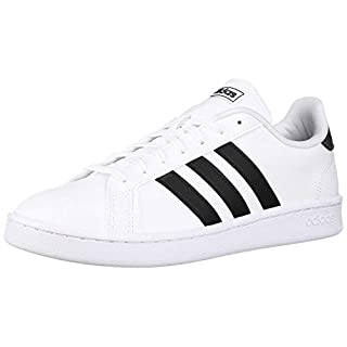 adidas Women's Grand Court, Black/White, 8 M US