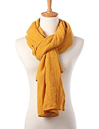 Soft Long Scarfs For Women Lightweight Warm Shawl Wrap Fall Blanket Solid Color