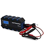 Cartrend 10620 ładowarka mikroprocesorowa do akumulatora samochodowego DP 4.0, 4 ampery do 6/12 V, 9-HF, funkcja automatycznego uruchomienia, wygodne przyłącze