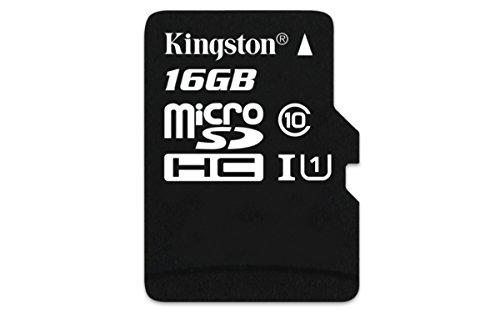 Kingston Digital 16GB Micro SDHC UHS-I Class 10 IndustrialTemp Card (SDCIT/16GBSP)
